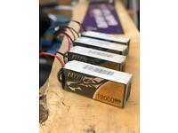 Lipo batteries 12000mah 6s 22.2v Tattu excellent