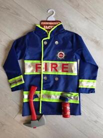 BRAND NEW FIREFIGHTER'S JACKET DRESS UP 5-7 YEARS