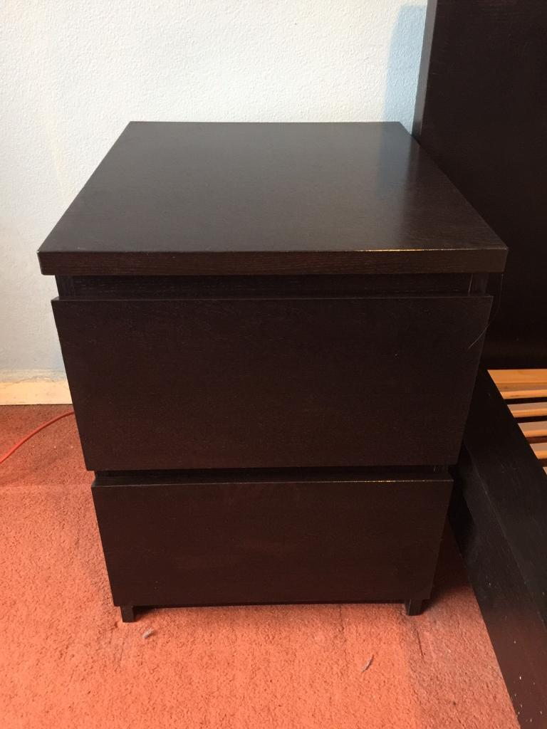 Ikea Malm Bed Side Table Black For Free In East Preston