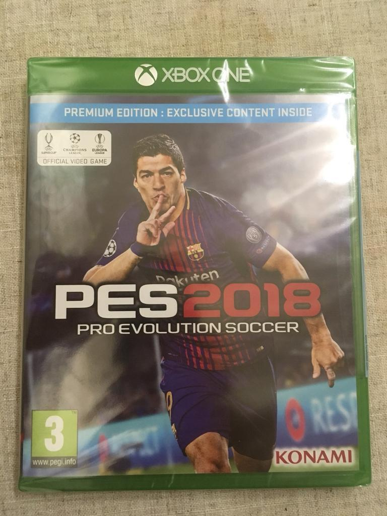 Pes 2018 Premium Edition Pro Evolution Soccer Xbox One Brand New Sony Ps4 Sealed