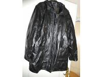 Pigskin Leather jackets. Will sell seperate. Mens 1 x Sm & 1 x Lge. With zipped detachable hoods.