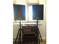 Peavy pa system for sale. mixer / amp , speakers and stands , leads.