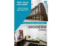 1 Bedroom Modern Studio Part-Bills included Fully Furnished