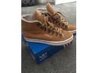 Adidas high top suede trainers women's size 4