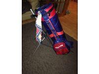 Pinseeker golf bag with automatic stand