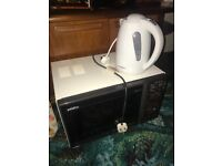Free: Microwave oven and kettle