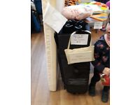 Travel cot with mattress and 2 sheets