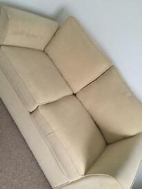 Cream Beige Double Sofa Bed