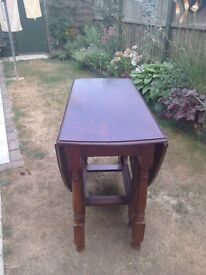 drop leaf oak table