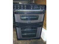 £120.00 Cannon black/Grey ceramic electric cooker+60cm+3 months warranty for £120.00