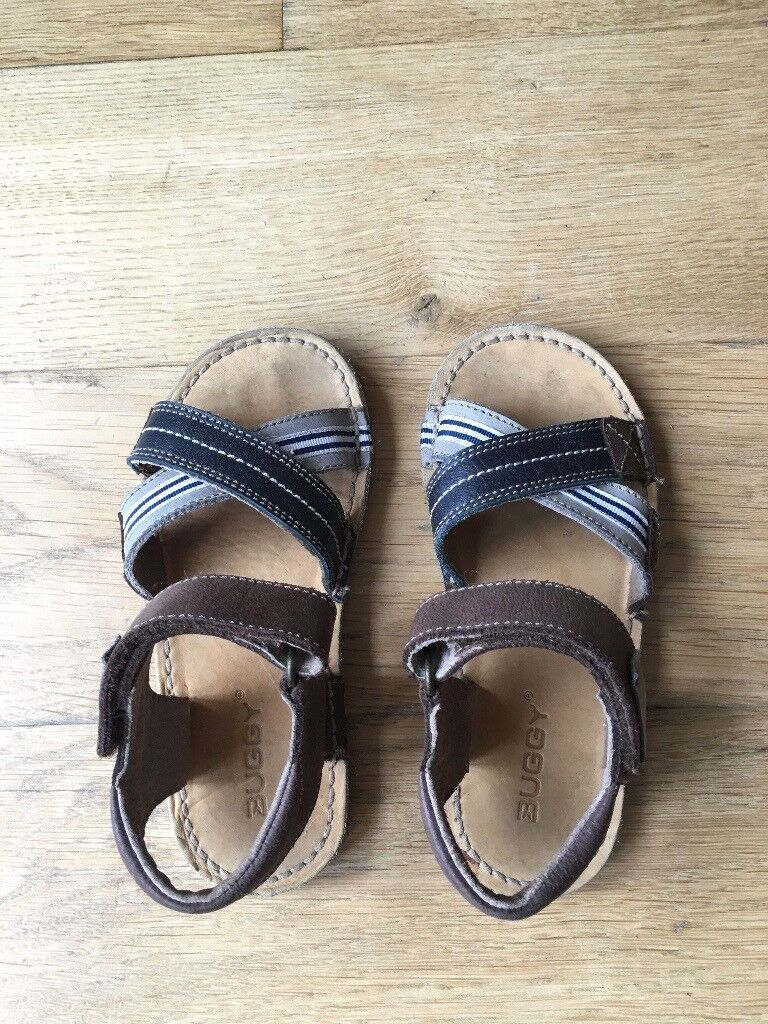 BUGGY Leather and fabric sandals