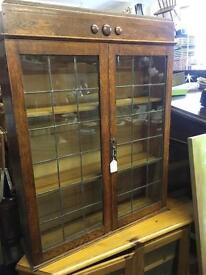 Lovely vintage oak dresser top Cupboard Bookcase