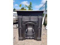 113 - Cast Iron Fireplace Surround Antique Victorian Fire Combination Original