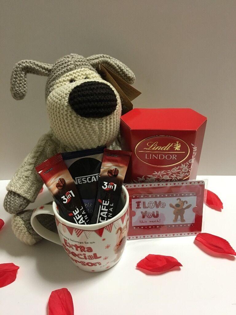 Boofle Soft Toy Valentines Day Gift Hamper For Him Boyfriend