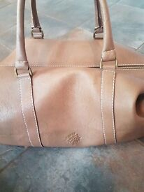 Mulberry leather holdall bag