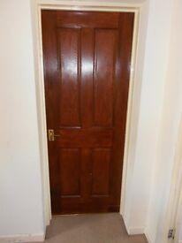 Several 4 panel solid wood doors