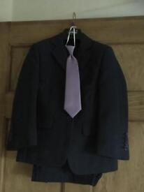 St Chiman Navy Boys 3 Piece Suit and White Shirt Age 6