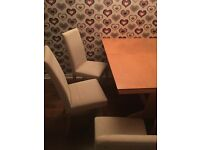 For Quick Sale: Dining Room Table & 4 Chairs.