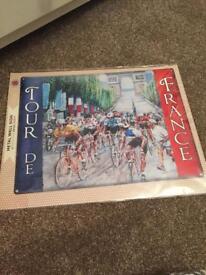 Tour De France metal sign