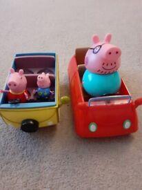 Peppa Pig camper van & car