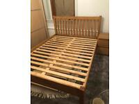 King Size Solid Oak Bed frame
