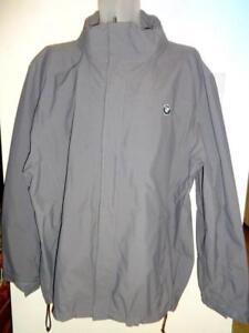 New MENS 2X BMW Windbreaker XXL 48 50 Jacket Fall Gray Logo Coat Racing