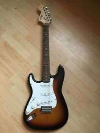 Left handed Fender stratocaster squier (Good condition)