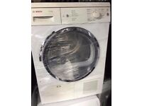8kg bosch classixx chrome design condenser dryer in good working condition with led display