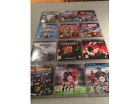 PlayStation 3 Console, Controllers and 12 Games £100
