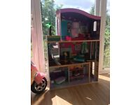 Large pink Doll House 4ft - good condition