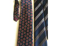 2 navy luxury ties Pierre Cardin + Lous Philippe