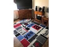 Large 100 percent wool rug