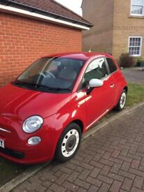 Fiat 500 Colour Therapy 1.2 red. 2012.
