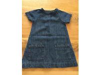 12-18 months baby girls clothes - Next denim dress EUC
