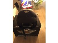 Harley Davidson Crash Helmet Matt Black Genuine stil in box worn twice by the wifeSize Small