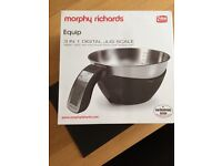 MORPHY RICHARDS 3 IN 1 DIGITAL JUG SCALE BLACK RRP £29.99 BRAND NEW IN BOX!