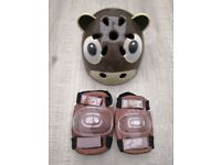Child safety helmet with elbow and knee pads - £2