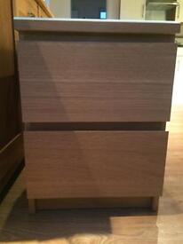 Malm oak ikea two door cabinet