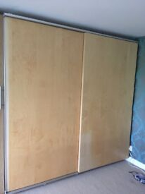 Sliding doors for Ikea Pax wardrobe (with fittings)