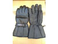 Motorcycle Gloves- Black Leather XL