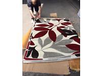 Large leaf rug 150x210cm