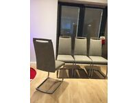 Harvey's Kendal Dining chair x 4 mocha