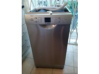 practically new Bosch Exxcel slimline dishwasher in silver can deliver