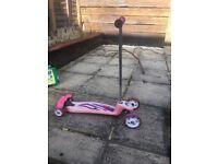 Pink Avigo scooter