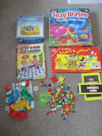 4 KIDS INCOMPLETE BOARD GAMES & SPARES SNAP DRAGON CATCHING CROCS etc £3 COLLECT BENFLEET SS7 1LB