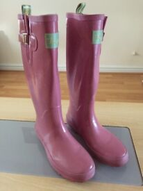 Tom Joule Pink Wellington Boots *LIKE NEW*