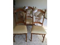 Six dinning chairs