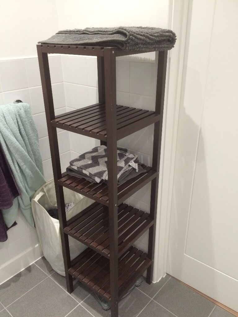 Dark Wood Ikea Bathroom Shelf For Sale In Stratford