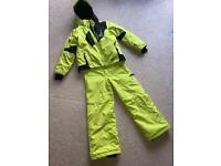 Boys ski jacket and matching salopettes