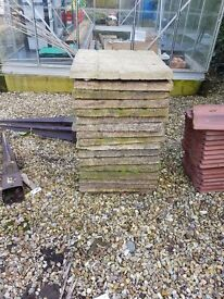 paving slabs for sale and an old sink.